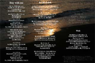 タイヨウのうた/stay with me/Wish 歌詞
