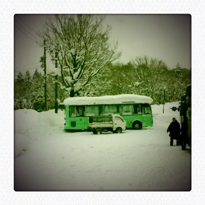 長野の雪景色