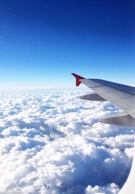 成田への機内