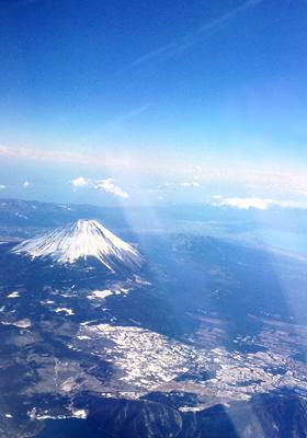 福岡への機内
