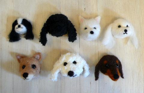 羊毛フェルト 犬