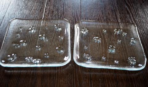 お皿 ガラス フュージング