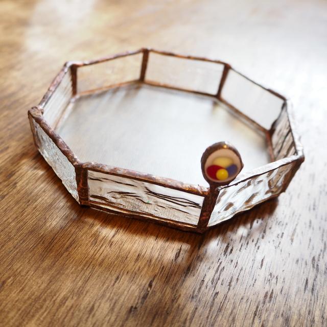 ステンドグラス トレイ Unitガラス工房 ガラス教室