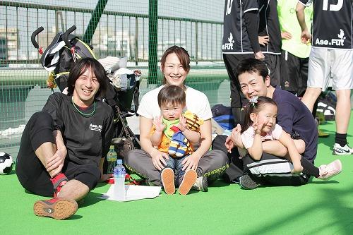仙台から駆けつけてくれたご家族とジュンさん