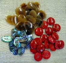 自然素材のボタン