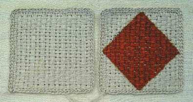 リネンフレーム織り、漆塗り