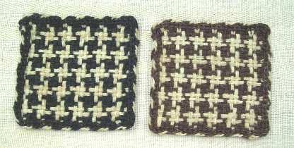 フレーム織り千鳥格子