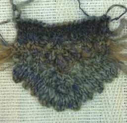 帽子の縁レース編み