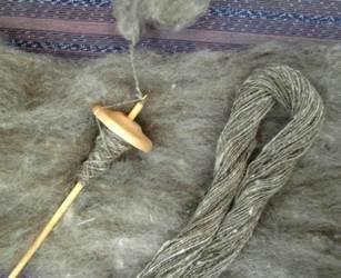 羊毛とスピンドル