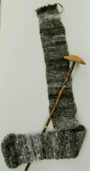 スピンドルとまっすぐ編んだアフガン編み