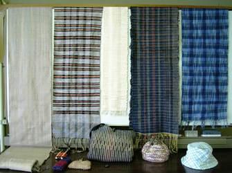 裂き織り布など