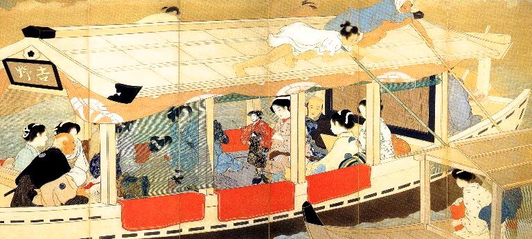 「鏑木清方の墨田河舟遊」の画像検索結果