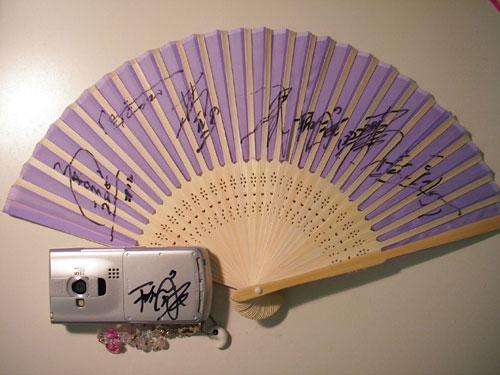 全日本男子バレーボール部のサイン