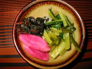 日野菜、壬生菜漬物