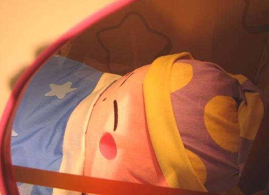 星のカービィ☆PARCOな25thアニバーサリー 札幌パルコ すやすや寝てるカービィ