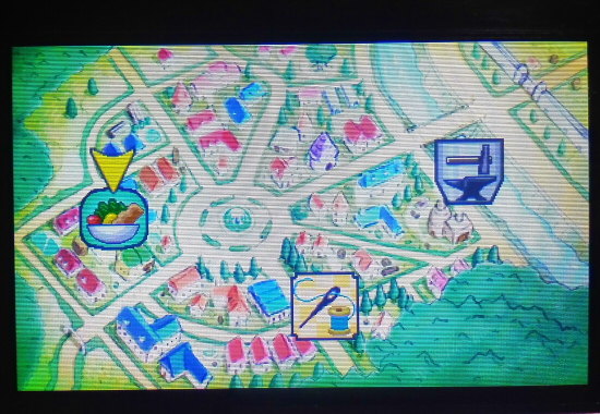 王国の道具屋さん 街のマップ
