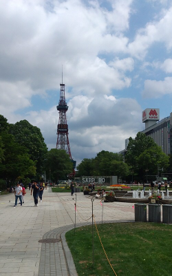 札幌 大通公園 テレビ塔 2019年夏