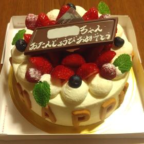 誕生日ケーキ 苺