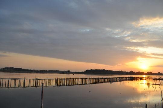 夕日 多々良沼 2011-10-3