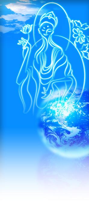 現代的な仏画イラスト・エコ・地球 earth