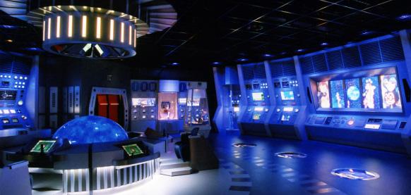 UI design of experience simulator game Leiji Matsumoto Yamato by suegra 01(松本零士監修、ヤマトのブリッジ風施設の体験コンテンツ画面デザイン