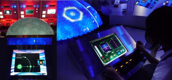 UI design of experience simulator game Leiji Matsumoto Yamato by suegra 02(松本零士監修、ヤマトのブリッジ風施設の体験コンテンツ画面デザイン