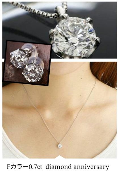 Fカラー0.7ct大粒ダイヤモンドネックレス