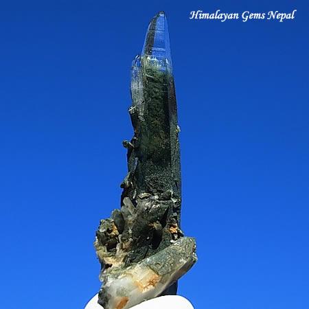 緑泥ヒマラヤ水晶 ガネーシュヒマール産 ヒマラヤンジェムス、ネパール