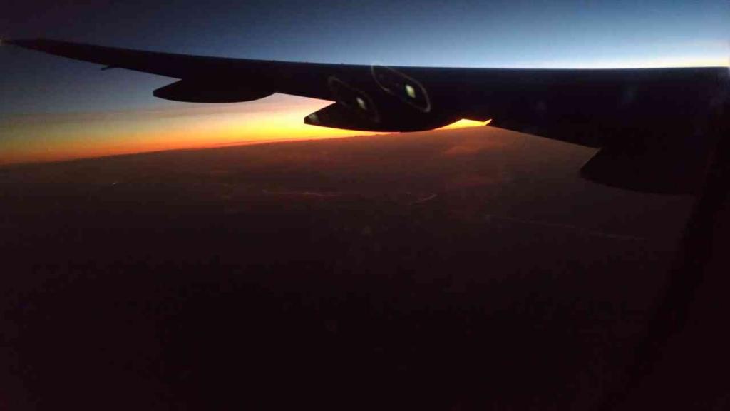 機上の景色