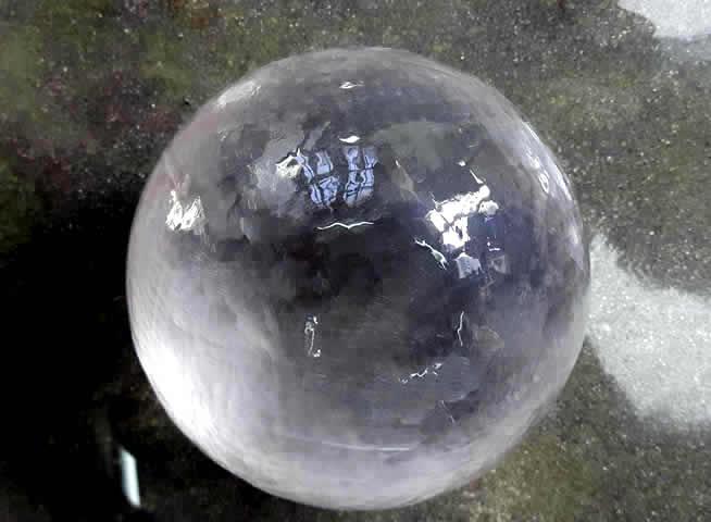 ガネーシュヒマール産 水晶丸玉 ヒマラヤンジェムス、ネパール
