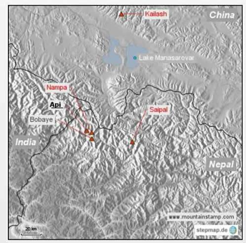 ネパール チベット インド