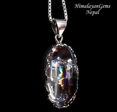 ヒマラヤ水晶 ガネーシュヒマール産ペンダントトップ ヒマラヤンジェムス、ネパール