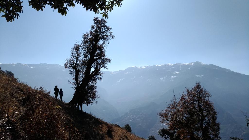 ネパール ガネーシュヒマール 山景色