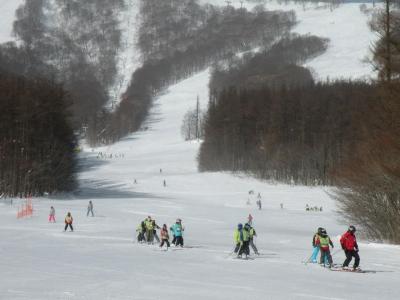 みんなスキーを揃えて滑れるんですよ!かっこいい!!
