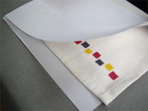 布に絵を描く