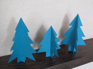紙でツリーを作る