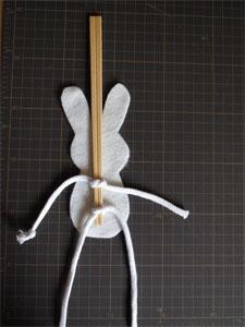 うさぎのパペット作り方