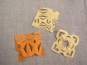 きりぬき折り紙