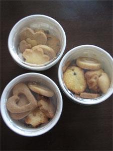 チョコチップとアップルチップクッキー