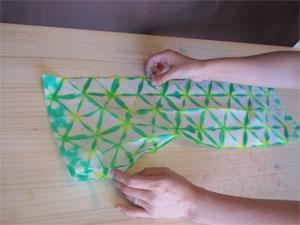 紙染め-不思議な模様