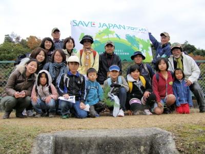 参加者での記念撮影(損保ジャパンの方が東京から参加されました。)