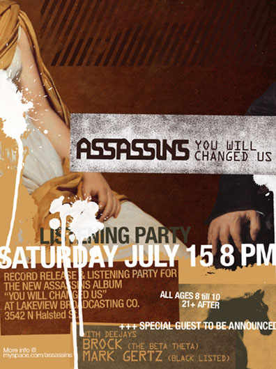 assassins albumリリースパーティーのポスター