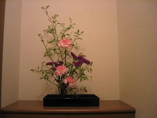 お花のお稽古(1回目)
