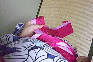 半巾帯の結び方【文庫結び】2