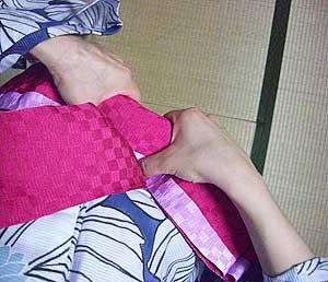 半巾帯の結び方【文庫結び】6