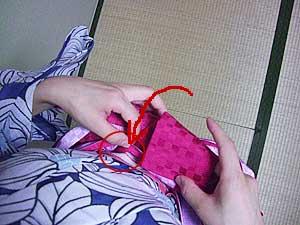 半巾帯の結び方【文庫結び】10