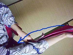 半巾帯の結び方【貝の口結び】2