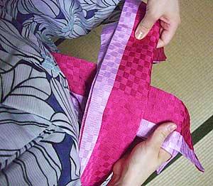 半巾帯の結び方【貝の口結び】3