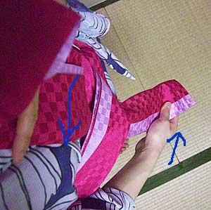 半巾帯の結び方【貝の口結び】5