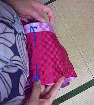 半巾帯の結び方【貝の口結び】6